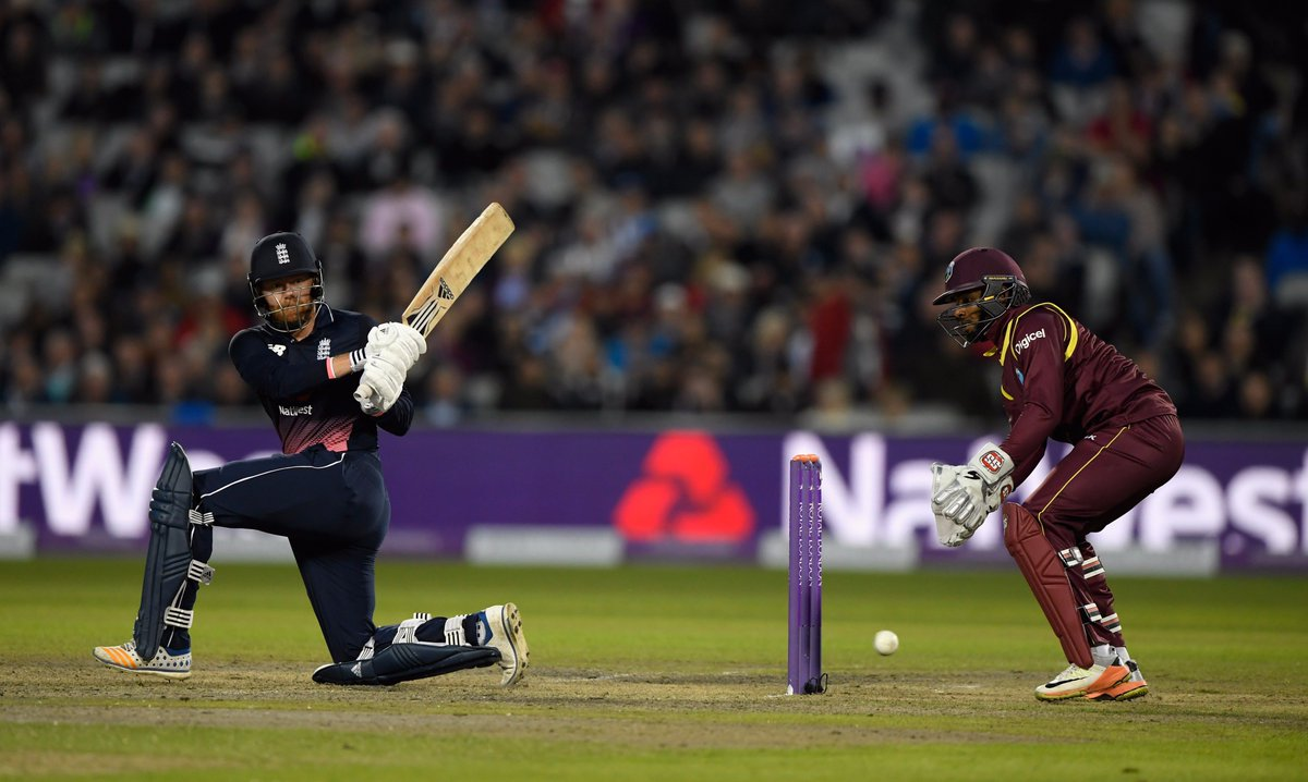 In only his second game as an opener, Jonny Bairstow gets to his maide...