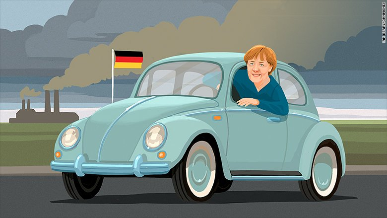 Germany's car industry has a tough new critic: Chancellor Angela Merkel