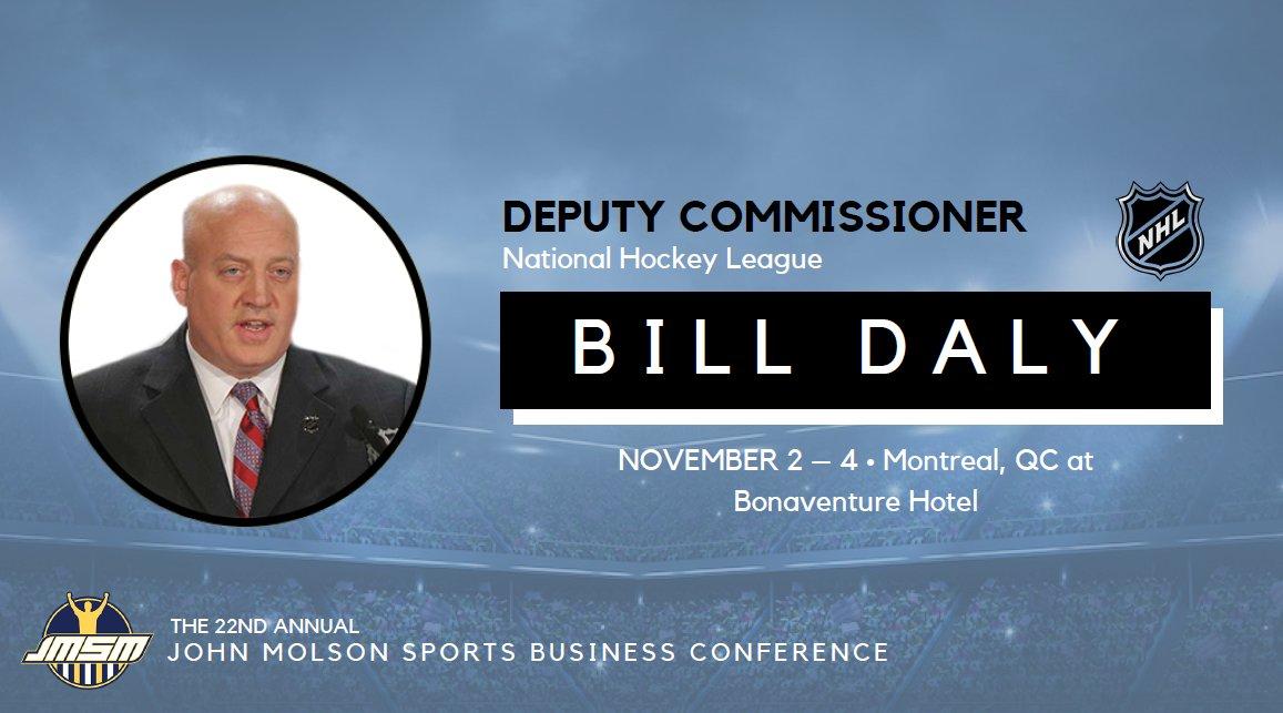 test Twitter Media - RT @JMSMCommittee: BILL DALY, Deputy Commissioner of the @NHL will be speaking at #JMSM17! https://t.co/jBMXcBJmvM