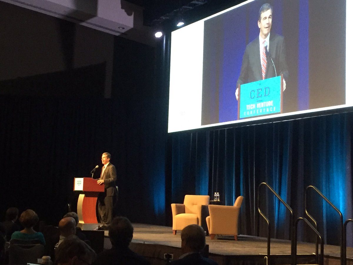Governor Roy Cooper opening the CED Tech Venture Conference #CEDTVC #ConnectAndGrow https://t.co/1OwcvzF1YU