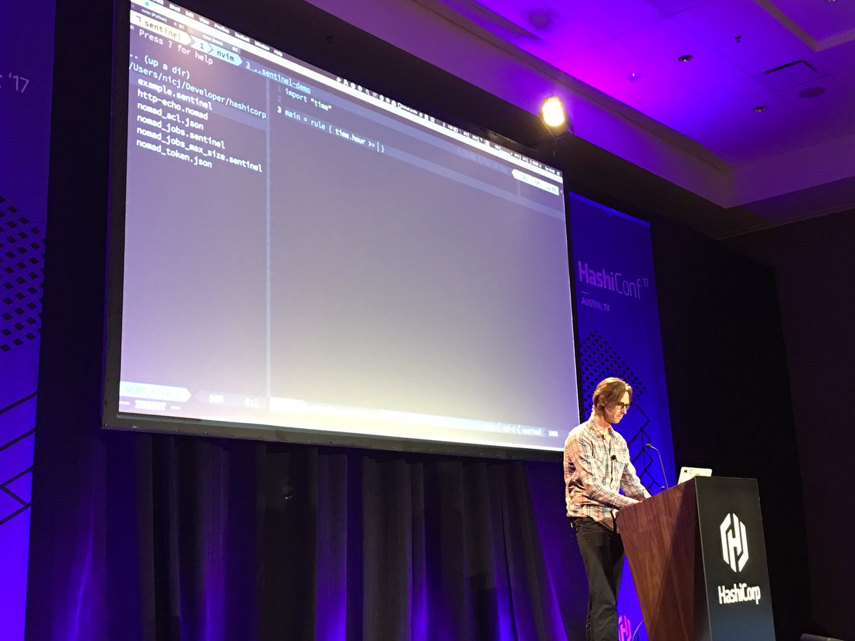 @sheriffjackson live coding a Sentinel policy at #HashiConf! Good stuff here! https://t.co/QF6A2vrI2g