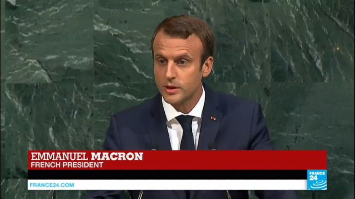 """?? Macron at UN: """"It is the duty of France to speak up for those who have no voice"""""""