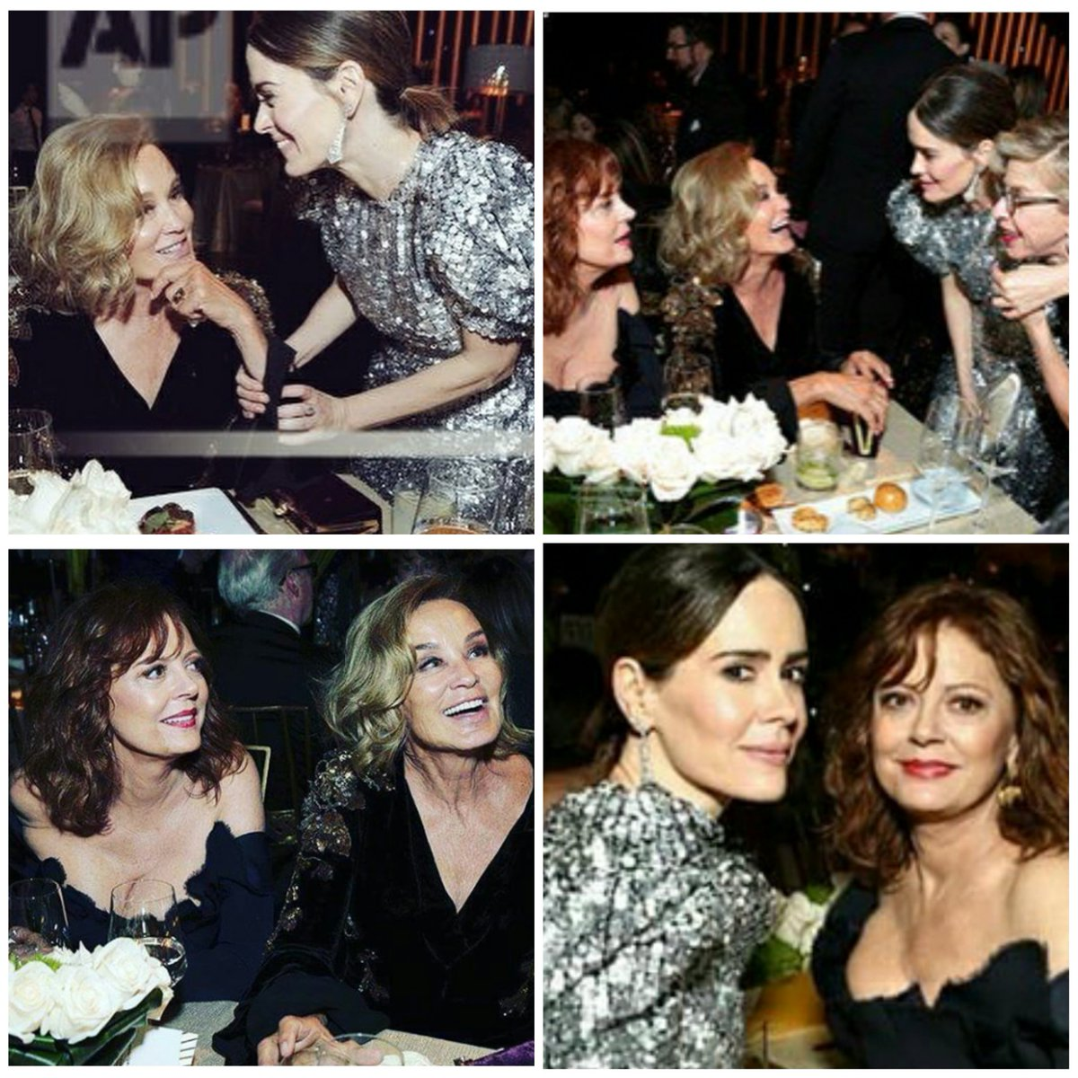 This is the table you want to be placed at #SarahPaulson #JessicaLange #SusanSarandon #JackieHoffman #FeudFX https://t.co/YQuJ8Bju5t