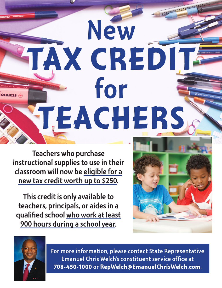 test Twitter Media - Teachers who used their own money to buy school supplies this year may qualify for a new IL tax credit. Save documents for 2018 tax filings. https://t.co/NYB6H4bmkE