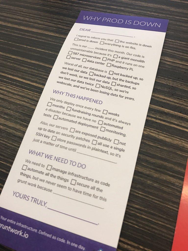 這大概是我在 conference 拿到最有梗的東西 XDDDD #HashiConf https://t.co/P59FJDlkyj