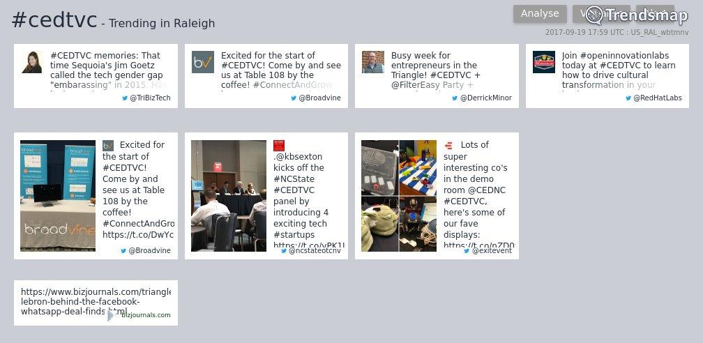 #cedtvc is now trending in #Raleigh  https://t.co/mCMFYuGMJb https://t.co/PzjSMOTrtV