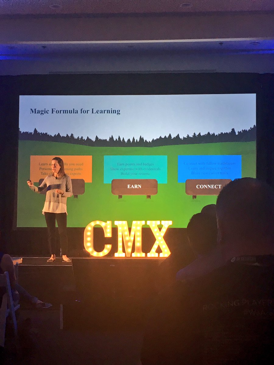 Magic Formula for #Learning: Learn, Earn, Connect!!! From @ericakuhl of @salesforce at #CMXsummit!!! https://t.co/42j4Pix2ac