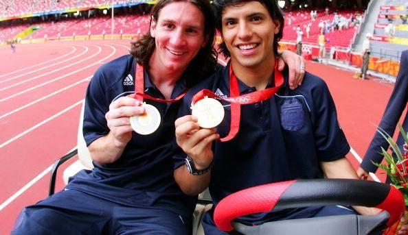 Nine years ago, Leo Messi and Sergio Aguero won Olympic gold. https://t.co/IY1RifXvWw