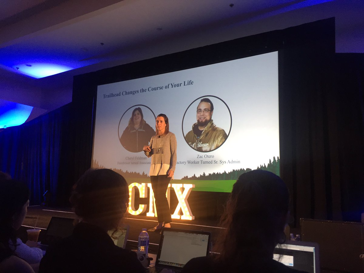 I ❤️ Trailblazer stories, never gets old. #CMXsummit @trailhead @ericakuhl https://t.co/cfQcjroMTo