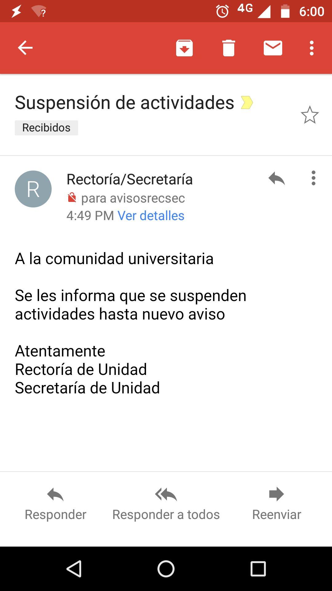 Por cualquier cosa, no hay actividades en la @uamcuajimalpa hasta nuevo aviso https://t.co/0kMBMFM6XC