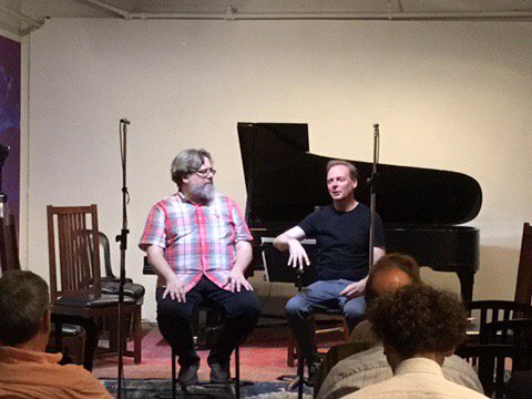 test Twitter Media - Bryn Harrison discussing his music with Martin Arnold at the wonderful @Gallery345  @HuddCeReNeM @ArrayTO https://t.co/n0anonH50o
