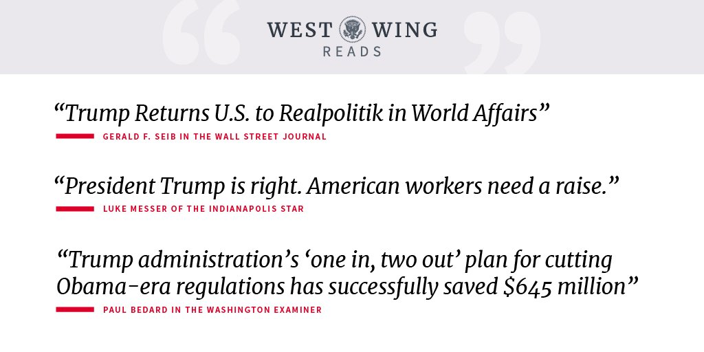 Today's West Wing Reads: https://t.co/9XMHnYUGyq https://t.co/BaCD4woNXR