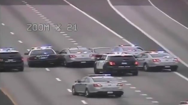Video: Police Cruisers Force Car To Stop After I-91Pursuit