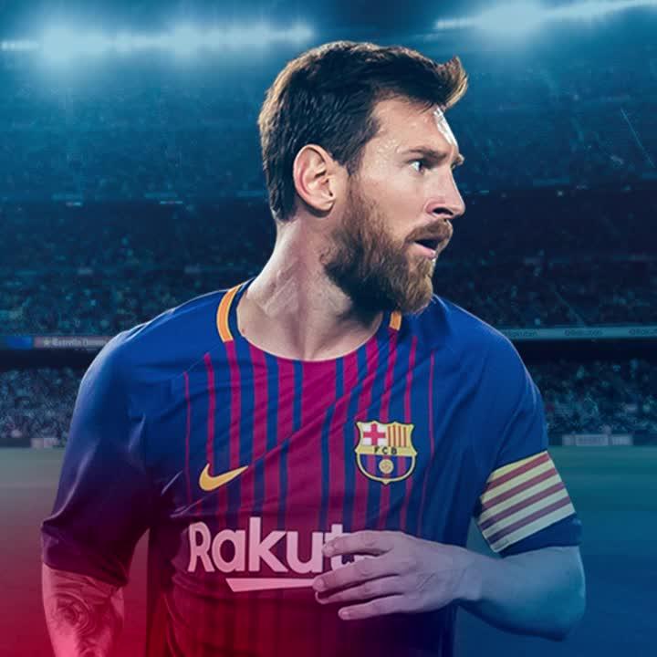 ⚽️⚽️⚽️⚽️⚽️ GOOOOAALLLL! Messi again for his hat-trick! 5-1! #BarçaEiba...