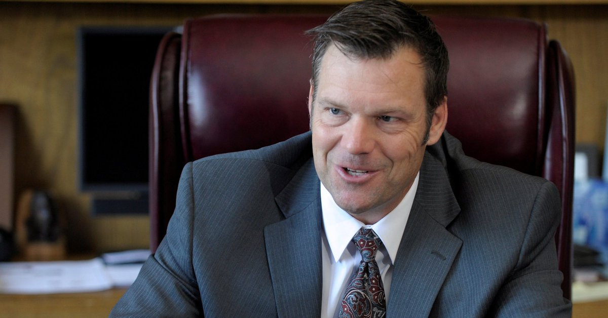 Kris Kobach is using a private email for government business and thinks it's totally fine
