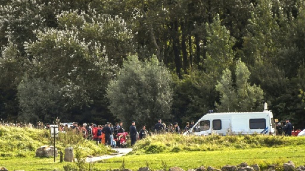 France clears hundreds of migrants from wood near Calais