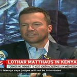 German football legend and World Cup winner Lothar Matthaus in Kenya