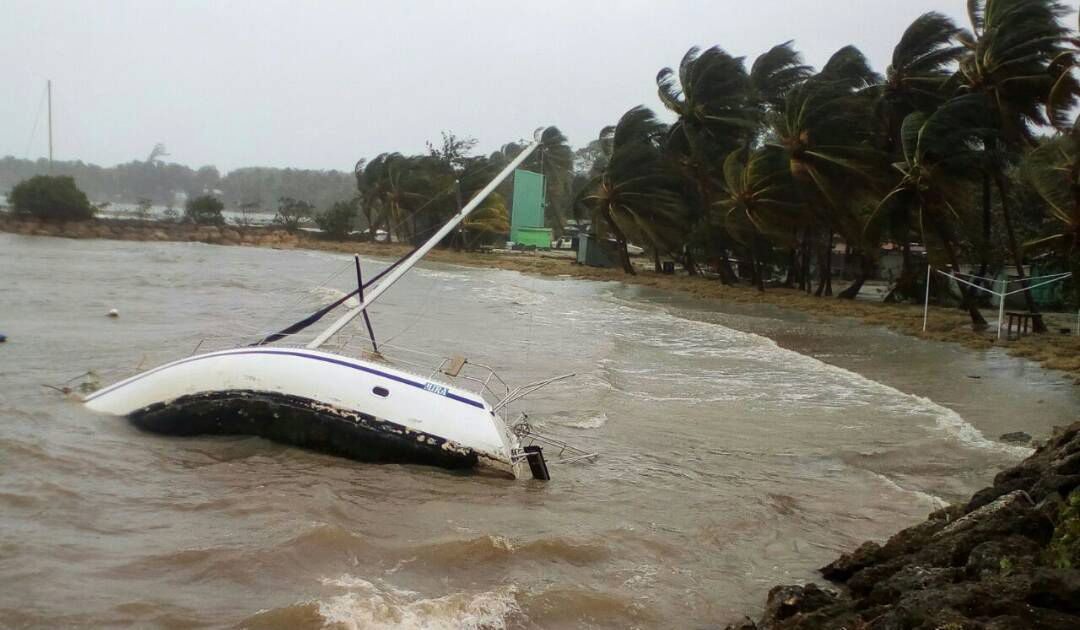 Hurricane Maria aims at Puerto Rico after slamming Dominica