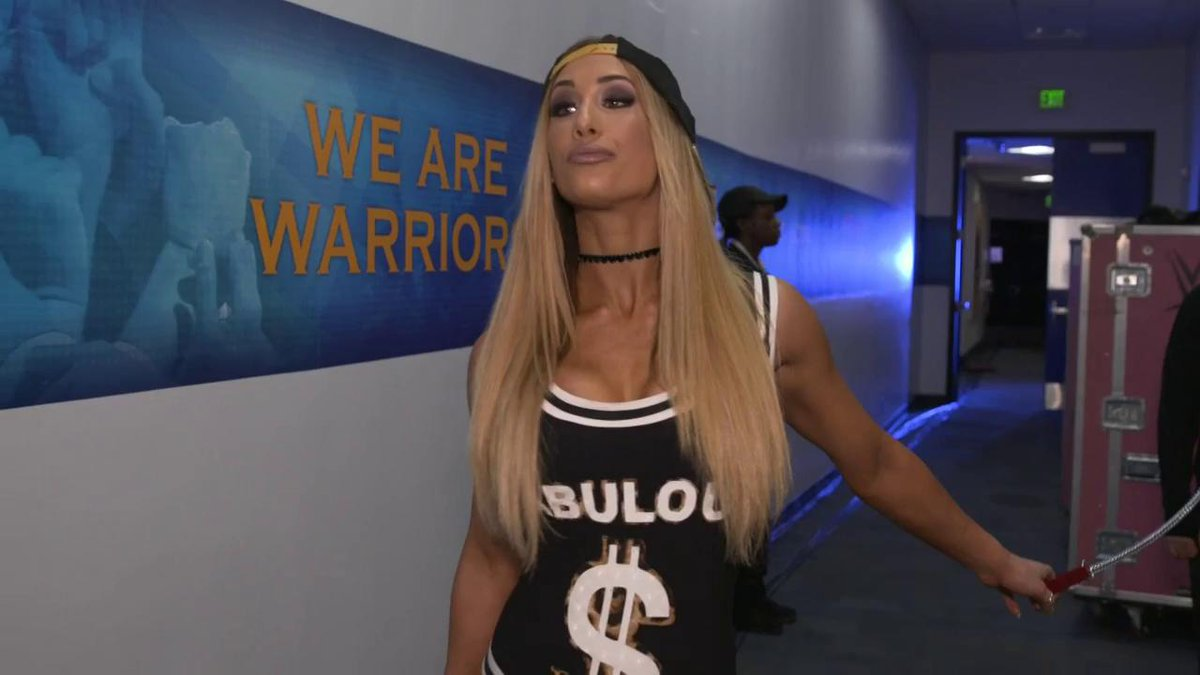 EXCLUSIVE Ms. #MITB @CarmellaWWE has @realellsworth on a VERY short leash...LITERALLY! #SDLive