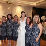 6 guests wear the same dress to Australian wedding