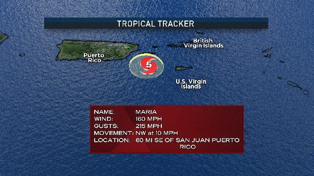 Vieques now in the eyewall of this extremely dangerous Cat.5 hurricane...