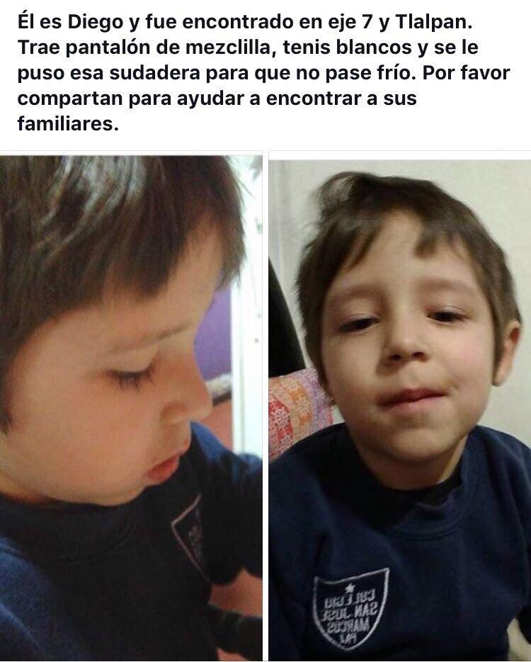 Me piden compartir la información de este niño. https://t.co/rMVHGFKU2f