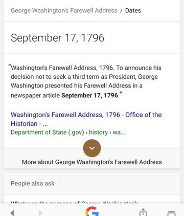 .@JohnAvlon: FYI, State Dept is confused. Today was the #FarewellAddress' 221st anniversary - not 9/17, right? https://t.co/mV80W3D06M