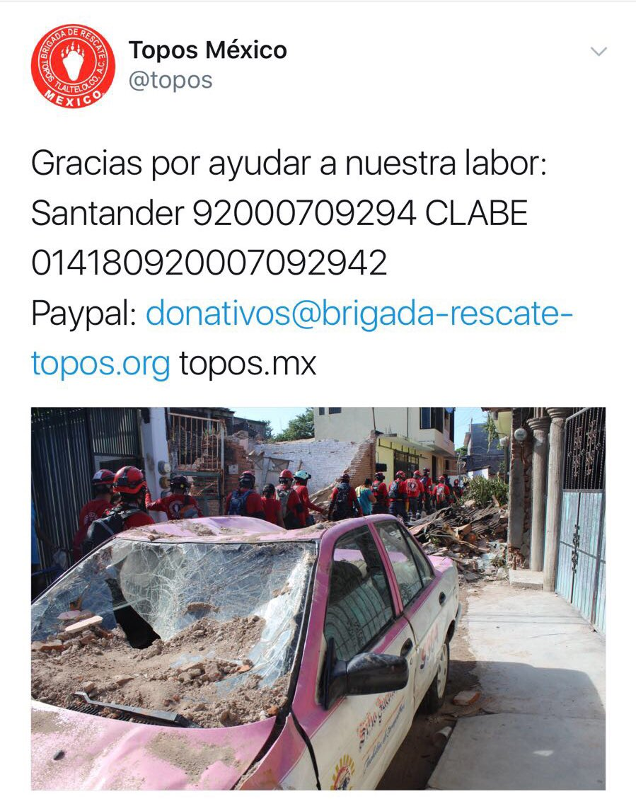 Mexico nos necesita. Juntos saldremos de esto 🙏🏼 https://t.co/ZqCH6VTrB9