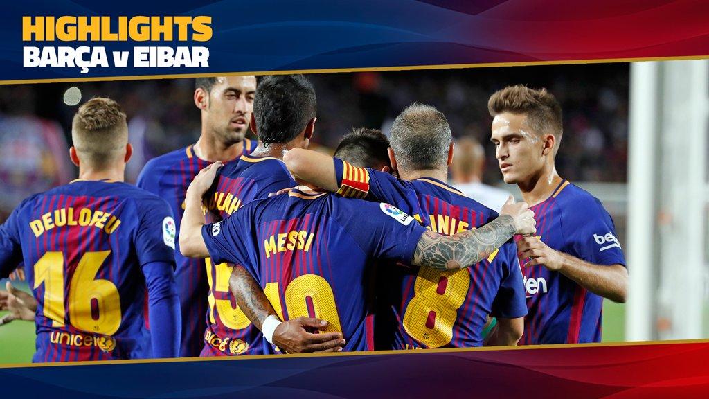 ⚽️ #BarçaEibar (6-1) �� See the video highlights of Barça's game against Eibar �� https://t.co/NFckVc0io0 https://t.co/2ee5rdtD2Q
