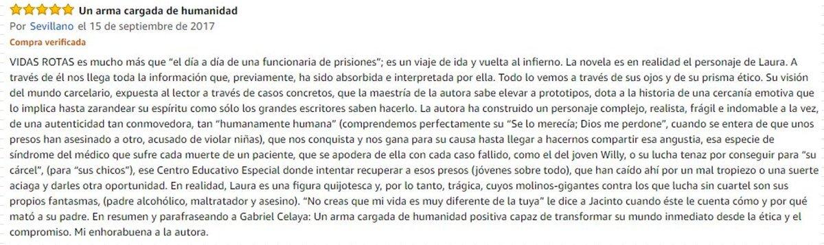 RT @Pino_Naranjo: @RoMemoria @CeliaVelasco1  Reseña de VIDAS ROTAS de Celia Velasco-Saorí por Juan Sevillano https://t.co/VbZLO5oGw4