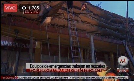 #ENVIVO | Al menos 45 edificios colapsados en #CdMx por #sismo https://t.co/4MtIuQybgs https://t.co/LOpi54WhVn