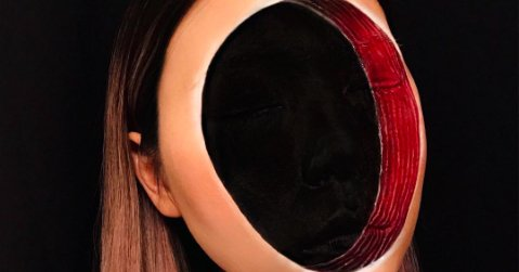 Is this the creepiest Halloween makeup ever?