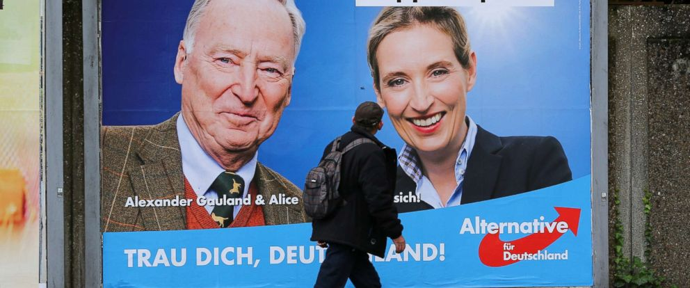 Germany's right-wing AfD Party poised for major gains on election day: