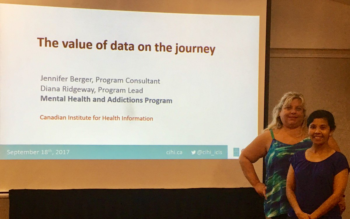 CIHI's Jennifer Berger and before their presentation on th...