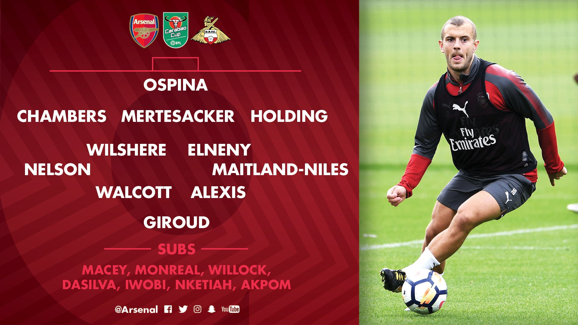 �� Here's how we line up tonight - what do you make of our starting XI?  #AFCvDRFC https://t.co/hsr9iHI7Is