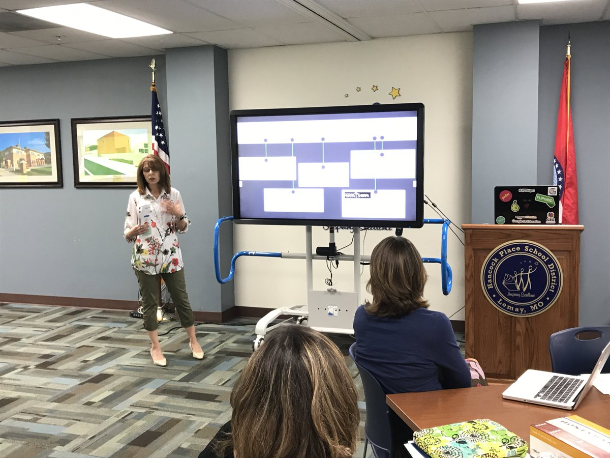 .@AliciaAjl shares the @MehlvilleSD approach to #digcit and data privacy with #ETAofSTL members. https://t.co/QWbtj4tUwf