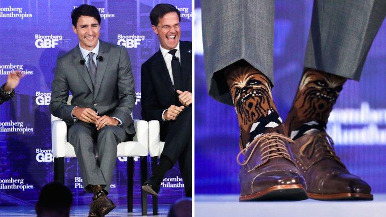 Justin Trudeau's 'Star Wars' Chewbacca socks create social media stir: https://t.co/rvnxWvAMHy https://t.co/PAPKefisre