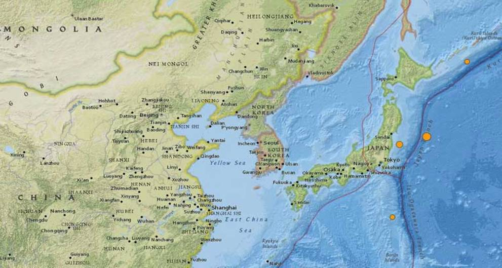 Strong 6.1-magnitude quake off Japan's east coast: USGS
