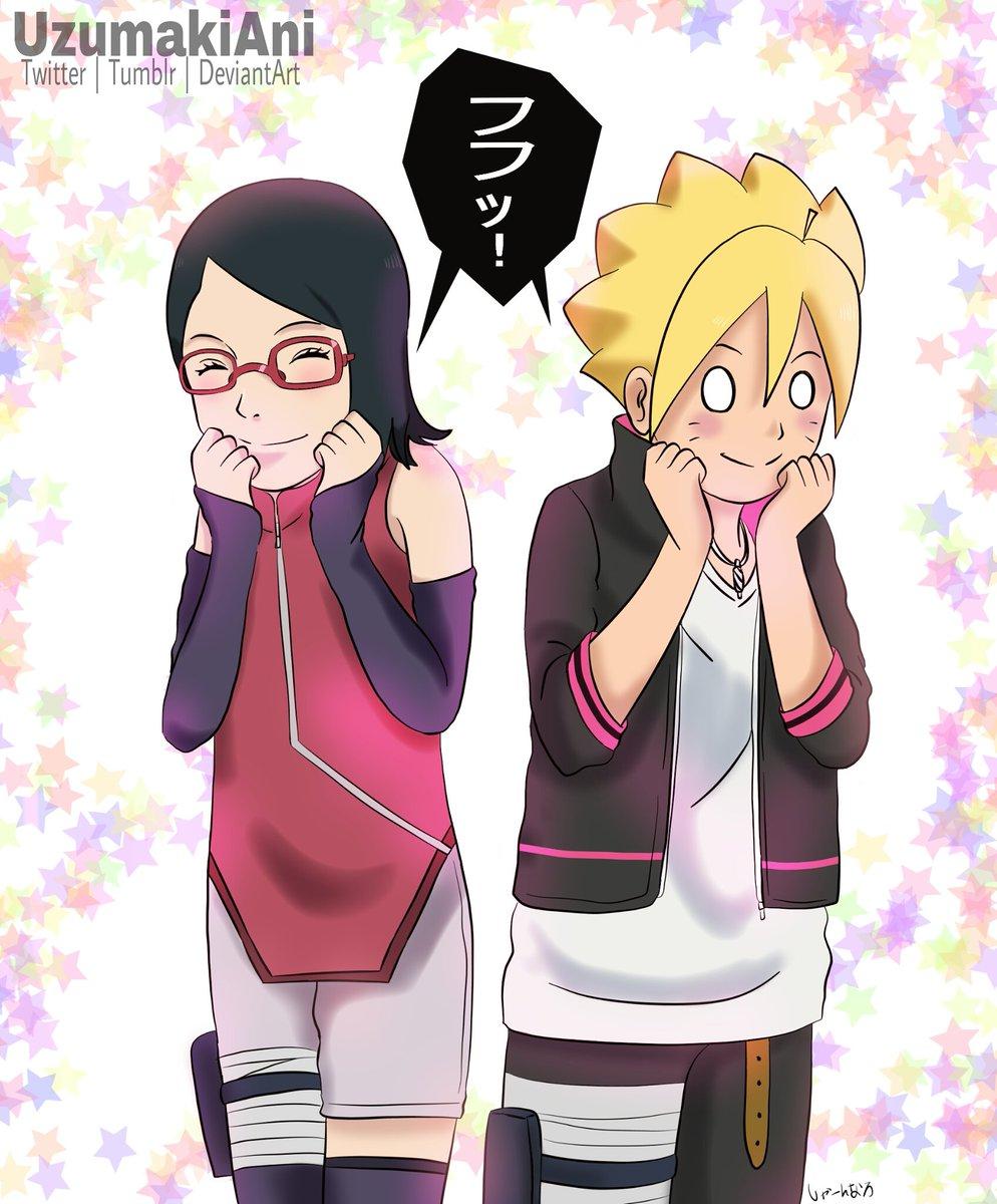 フフッ!#BoruSara #BORUTO #ボルト #ボルサラ #Naruto #ナルト #Uchiha