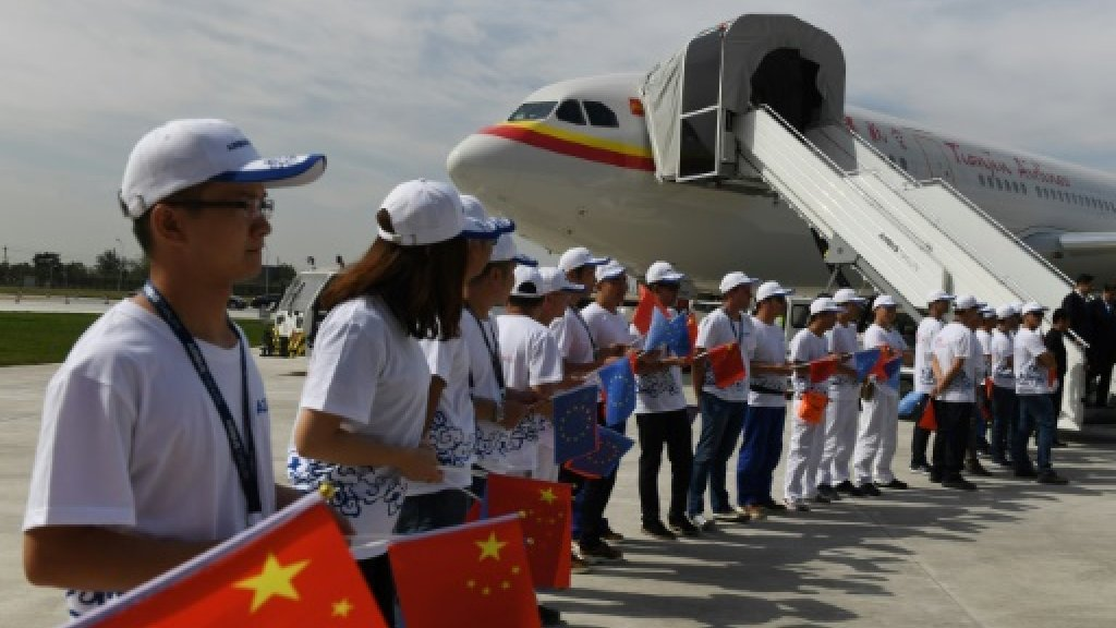 Airbus opens first plane-completion centre in China