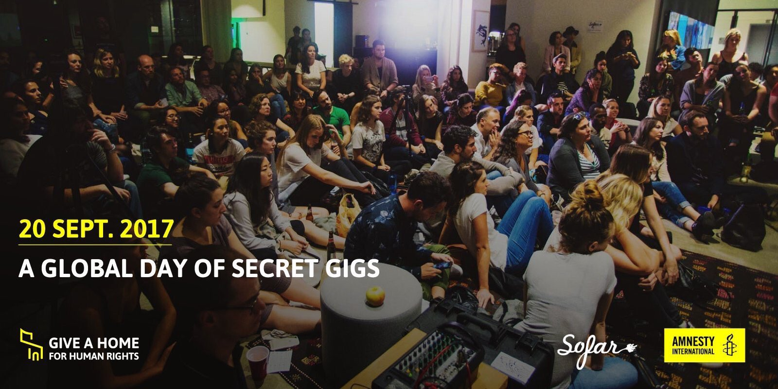 Tonight we join 1000+ bands & musicians to play an intimate show to support world refugees #GiveAHome #beirut @amnesty @sofarsounds https://t.co/iZydFmJXvF