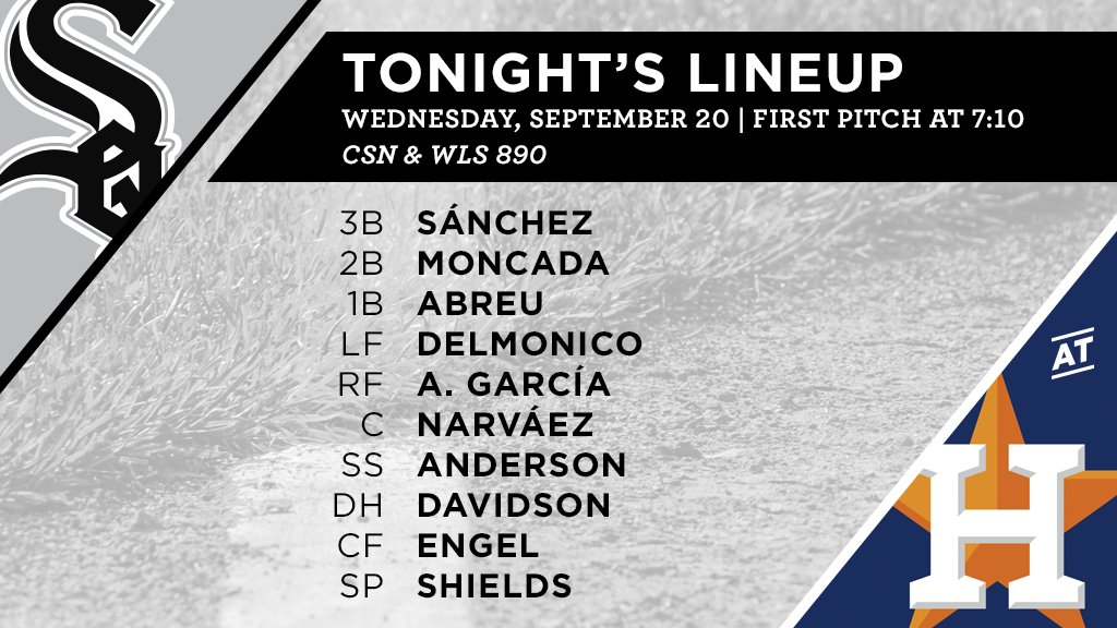 Tonight's #SoxGameDay starters: https://t.co/yt6Qp6Y6sO