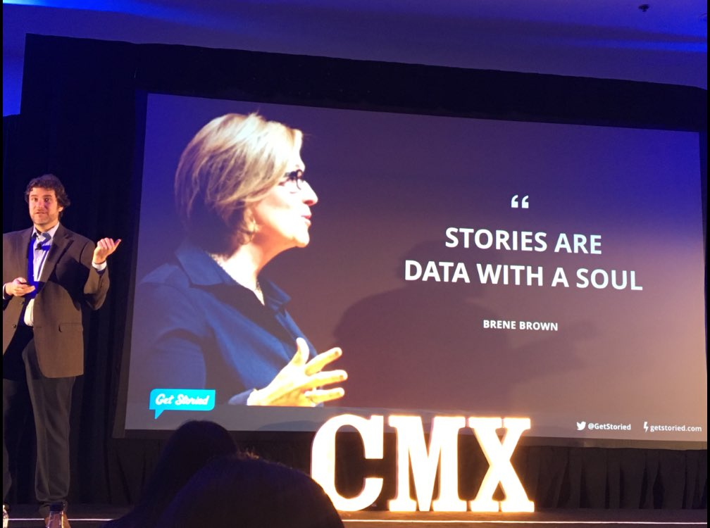 RT @wawoe: Wonderful words from @getstoried and how are we can harness peoples' stories  #cmxsummit https://t.co/RmjGUlPMJV