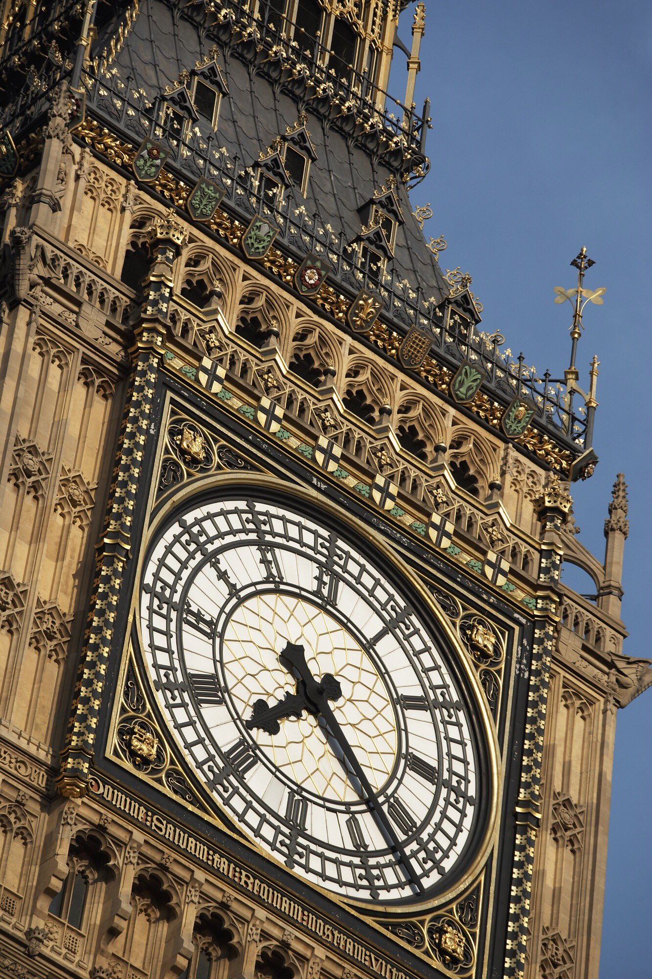 Intricately gothic revival designed clock face of Big Ben in London, #England https://t.co/4vhpcfV96e