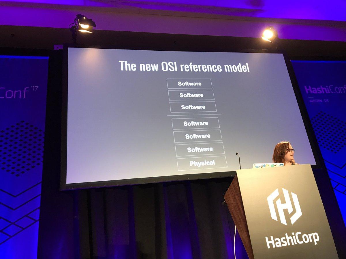 """RT @ashleymcnamara: """"The new OSI Model"""" #HashiConf https://t.co/6r7nodqiC2"""