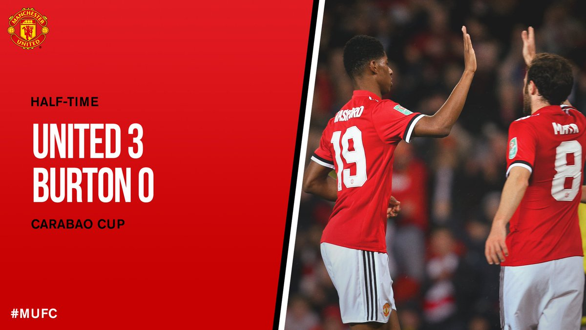 HT: #MUFC 3 Burton 0. Two Academy graduates, three goals. Top stuff!...