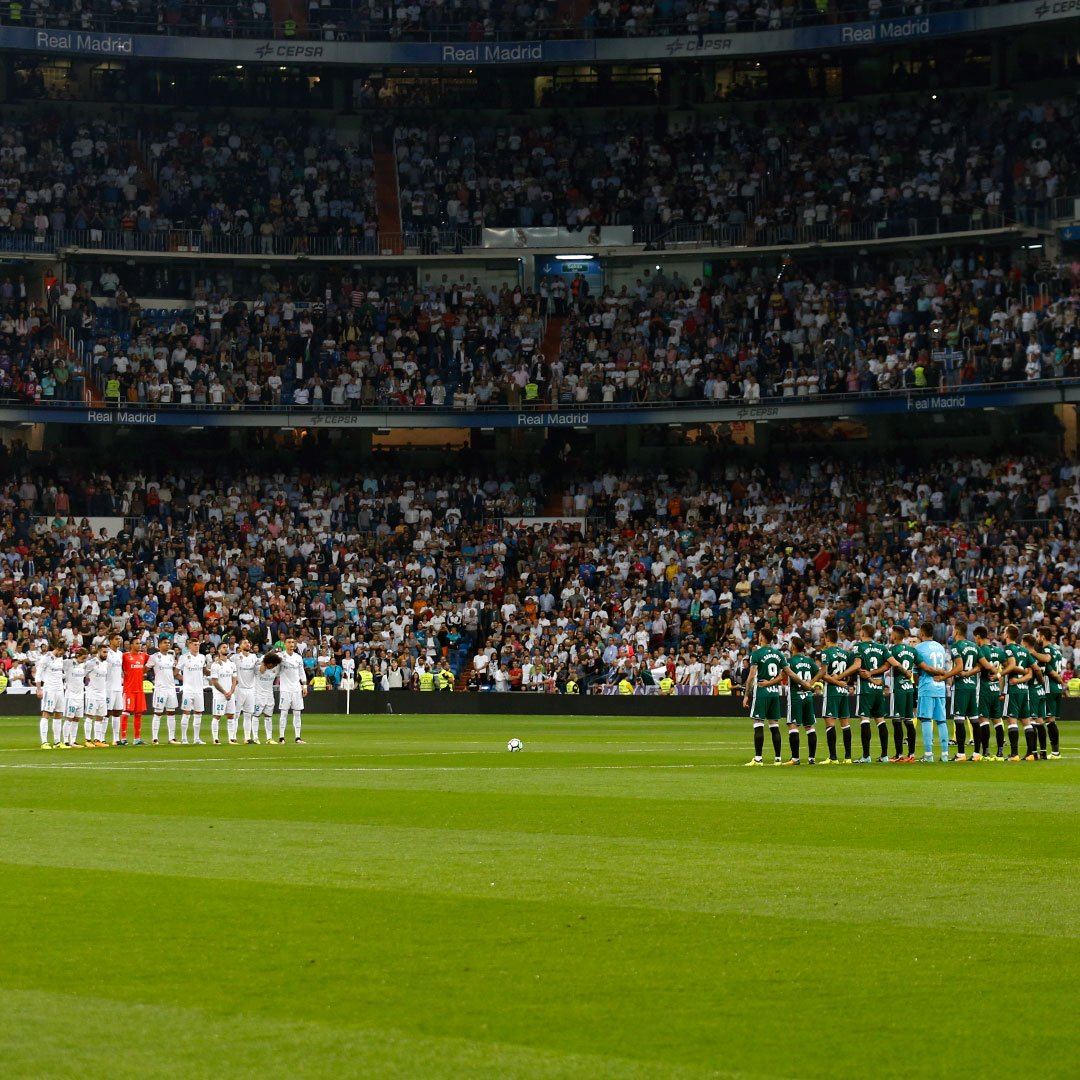 The Santiago Bernabéu observes a minute's silence for the victims of t...