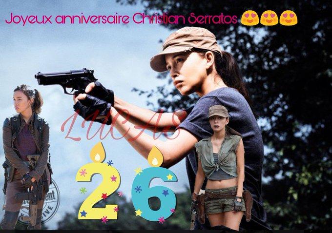 Hello Christian Serratos I wish you a very happy birthday I am very fond of you I love you I like