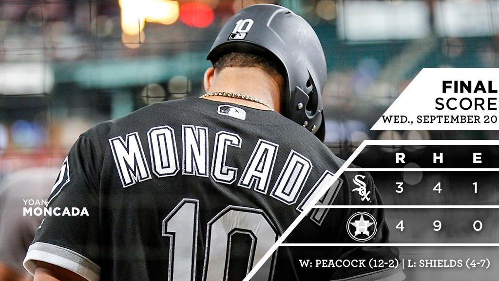 Yoan Moncada hits seventh home run of the season as Sox battle #Astros.  RECAP: https://t.co/T19cVhQmam https://t.co/Snsy4aLhmH