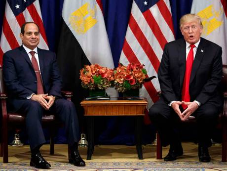 US considers resuming Egypt military aid: Trump